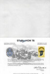 UNITED STATES - STAMPSHOW '78 PHILATELIC EXHIBITION SOUVENIR CARD & ENVELOPPE
