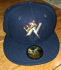 Northwest Arkansas Naturals Diamond BP Navy New Era 5950 Cap Hat NWT 7 1/4