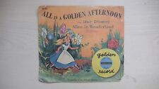 Golden Yellow Record Alice in Wonderland ALL IN A GOLDEN AFTERNOON 78 rpm 1951