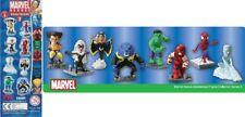 Set 8 Figure MARVEL Eroi BOBBLE HEADS Serie 2 Hulk Wolverine Spiderman etc. TOMY