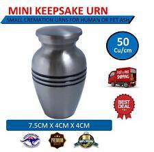 Silver Mini Pewter Keepsake Cremation Urn for Human & Pet Ashes JTG-1764