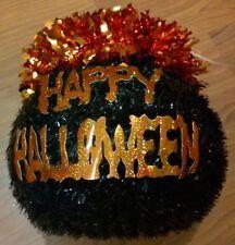 """Happy Halloween"" Black Kettle Halloween Decoration 8 inches"