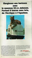 Q- Publicité Advertising 1968 Moteur Bateau Hors Bord Johnson
