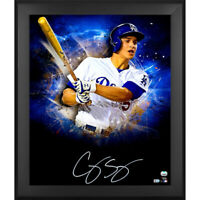 "COREY SEAGER Autographed Dodgers ""In Focus"" 20 x 24 Photograph FANATICS"