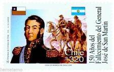 Chile 2000 #1991 150 años Fallecimiento del General Jose de San Martin MNH