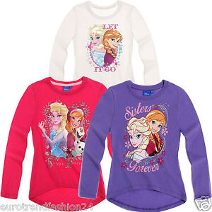 Mädchen Disney Frozen / Die Eiskönigin Elsa Anna Langarmshirt T-Shirt Oberteil