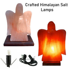 Natural Himalayan Salt Angel Pure Pink Salt Lamp 100% Crystal Rock Salt Lamp
