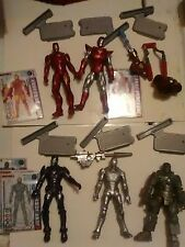"Iron Man 2 Movie 3.75"" Action Figure Lot Mark 1 Mark 2 Silver Red Purple"