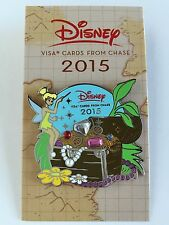 Disney 2015 Chase Visa Exclusive Tinker Bell Jeweled Treasure Chest Pin