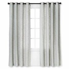 """Threshold Spacedye Curtain Panel Color Gray Size 54"""" x 84"""""""