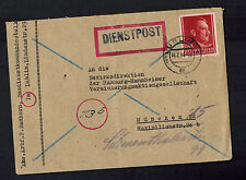 1944 Lublin Poland Germany Cover Baudienst Dienstpost to Munich 2