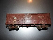 O SCALE BROWN MISSOURI CENTRAL BOX CAR  # 290462 NO BOX