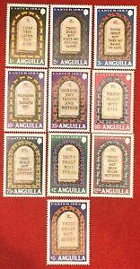 ZAYIX - 1983 Anguilla 526-635 MNH - Easter / Ten Commandments