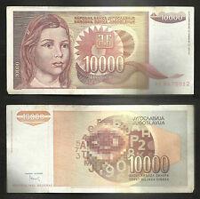 "Very Rare 1992 ""Yugoslavia"" Currency Note ""10000 Dinara"" P# 116"