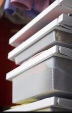 ELFA Decor Sliding Drawer Frame White For Storage Baskets Solution Soft Close