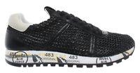 Scarpe Donna Sneakers PREMIATA Lucy-D 3663 Pelle Tessuto Tecnico Tela Nero Nuove
