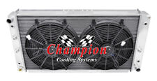 "3 Row Ace Radiator W/ 2 14"" Fans for 1994 1995 1996 Chevrolet Impala V8 Eng"