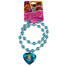 Disney Princess Girls Pearl Necklace Costume Jewelry with Charm - Cinderella
