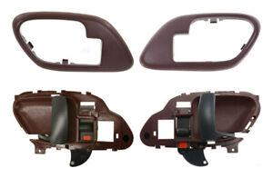 NEW 4pc Interior Door Handles & Bezels Trim Set RED for 95-99 Chevy GMC Truck