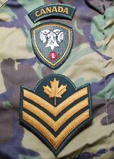 1 CANADIAN MECHANIZED BRIGADE GROUP CREST & GARRISON DRESS SERGEANT SGT RANK SET