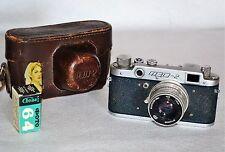 "30% Off! Very Rare Blue Body Ussr ""Fed 2"" camera + Industar-26m lens (Item â""–1)"