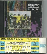 TOMMY JAMES  & SHONDELLS Anthology CD bonus concert ticket FREE SHIP within U.S.