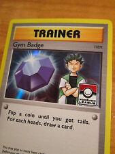 NM LEAGUE Pokemon BROCK'S GYM BADGE Card BLACK STAR Promo Set XY203 Holo Trainer