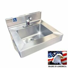 ADA HAND SINK ELECTRONIC FAUCET HEAVY DUTY STAINLESS STEEL #304 MADE IN AMERICA