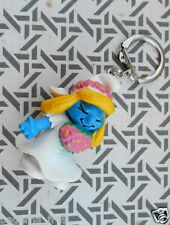porte cle schtroumpfette mariee 1991 schtroumpf smurf puffi puffo pitufo germany