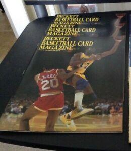 VINTAGE LOT (3)  Magic Johnson #3 Beckett Basketball Magazines, LAKERS,  MINT