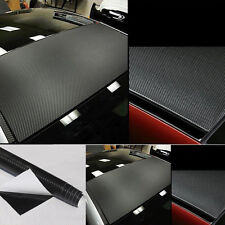 30*127cm 3D Carbon Fiber Vinyl Car DIY Wrap Sheet Roll Film Sticker Decal New