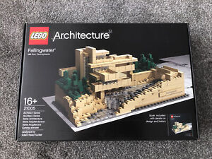 Rare Boxed LEGO Architecture Fallingwater Set 21005 - Missing Instructions