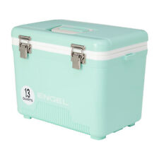 Engel 13 Quart 18 Can Leak Proof Odor Resistant Insulated Cooler Drybox, Seafoam