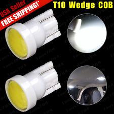2pcs New T10 W5W 194 168 COB LED Car License tag Interior Light Wedge Bulb White