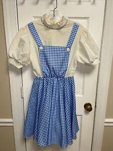 Vintage Wizard Of Oz Adult Dorothy Dress Up Cosplay Halloween Size Regular