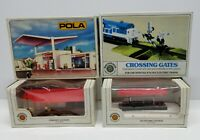 BACHMANN + N SCALE BUILDINGS & ACCESSORIES LOT OF FOUR UNITS / MINOR DAMAGE