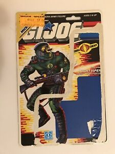 Cobra Night-Viper File Card & Full Card Back 1989