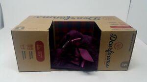 Dearfoams Women's Slippers Violet Size S 5-6 Memory Foam New With Box Washable
