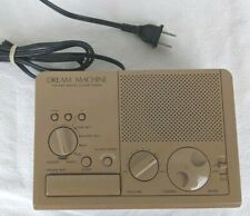 Sony Clock Radio Vintage Dream Machine Model Tan Brown Tested Works