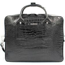 Baldinini men's croc pattern gloss leather business bag for mini laptop $469