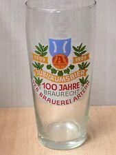 DDR Glas Bierglas 100 Jahre Braurecht Jubiläumsbier VEB Brauerei Artern 1979