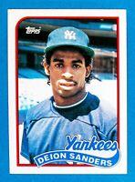 Deion Sanders #110T (1989 Topps Traded) Rookie Baseball Card, New York Yankees