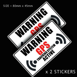 2 x TRACKING VEHICLE TRACKER SYSTEM FITTED  GPS CAR STICKER DECAL WINDOW VEHICLE