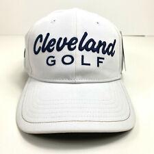New Cleveland Golf Srixon White & Blue Embroidered Adjustable Strap Back Hat Cap