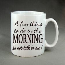 Morning Funny Joke Mug Gift Novelty Birthday Present Coffee Addict