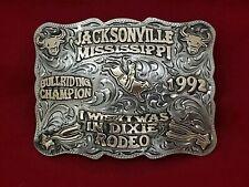 1992 TROPHY RODEO BELT BUCKLE~JACKSONVILLE MISSISSIPPI BULL RIDER~LEO SMITH~152