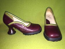 Burgundy & Green Fluevog Minis Darling Heels 7