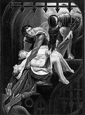 ANGLETERRE: ASSASSINAT de 2 PRINCES (Edouard V & Richard de Shrewsbury)- Gravure
