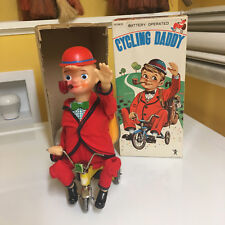 BANDAI VINTAGE TIN & PLASTIC CYCLING DADDY WITH BOX! 100% ORIGINAL & WORKING!!