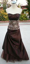 NWT ALYCE DESIGNS $398 Brown Prom Evening Ball Gown 4